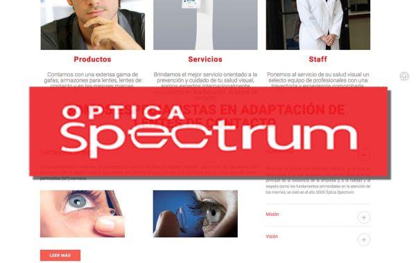 Óptica Spectrum – WEB