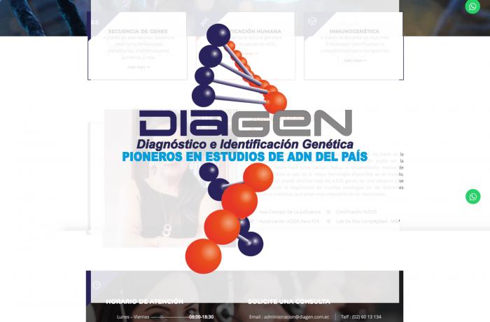 Diagen – Sitio WEB